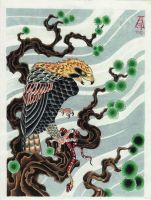 eagle and snake by veritas78