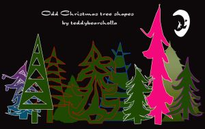 The Odd Christmas trees by teddybearcholla