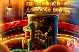 MLP G: The bearded pianist by AquaGalaxy