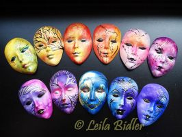 Coloured Muses masks by Gom6699