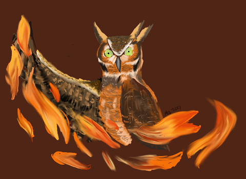 Fire Owl by Icarite