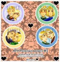 +APH: Pairings Badges 1 by LittleLadyPunk