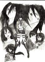 Mikasa Ackerman Collage by ImRocker