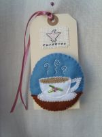Teacup brooch by HypotheticalTextiles