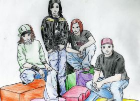 Tokio Hotel - Cartoon by HaanaArt