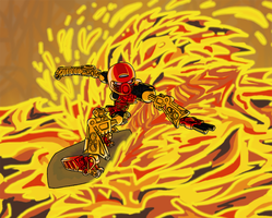 Lava surfing Tahu by Kumata
