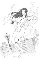 Spider-Woman ECCC 2013 Pencils by mechangel2002