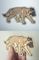Patch commission: Belgian Malinois by goiku