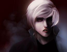 White Haired Vamire by Lady-Was-Taken