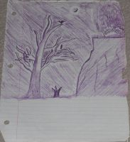 Purple Nature Drawing by DefectiveDre