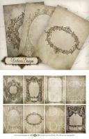 Printable Antique Frames ATC by VectoriaDesigns