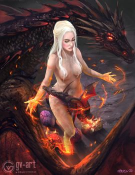 Mother of Dragons by gv-art