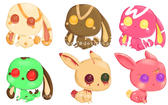 Adoptables Batch 5 .:Closed:. by Pietastic-Creations