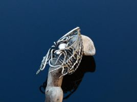 Silver Ring, Gothic by Atalia65