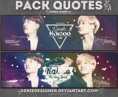 20140709. Pack Quotes Kaisoo's Mine! by GenieDesigner