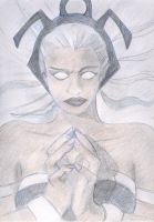 Storm  pencil work only by Ielle77