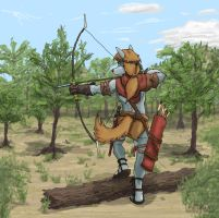 Skirmish in the shrubland by Mars-Walker