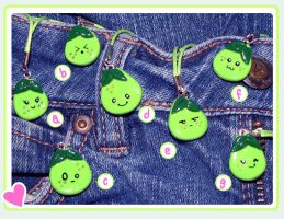 Pear Charms by KatHart