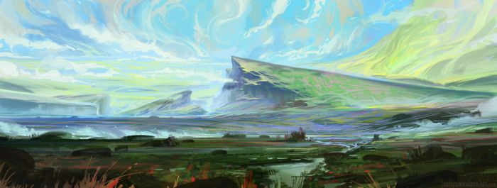Colorful Plains by SebastianWagner