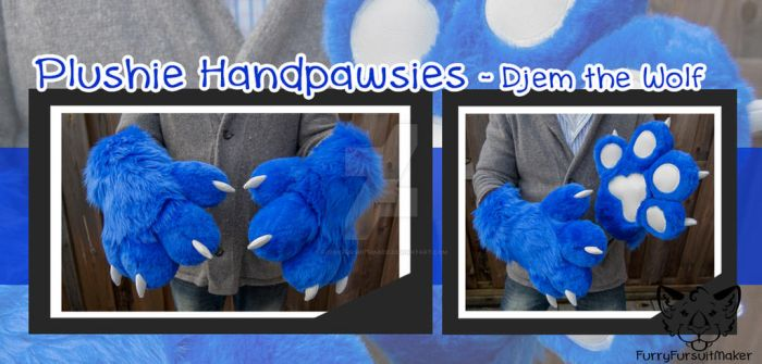 Plushie Handpawsies - Djem by FurryFursuitMaker