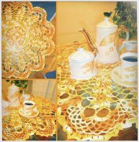 Delicate vintage doily by argentinian-queen