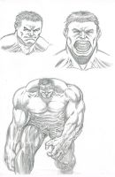 Hulk Sketches by artistjoshmills