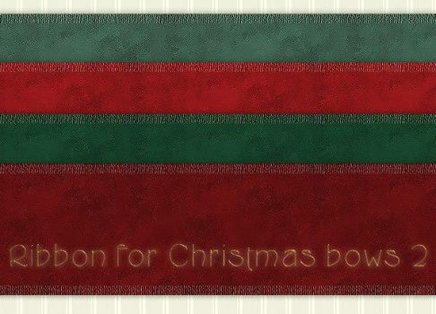 Christmas Bows Ribbons 2 by PhotoImpactPixels