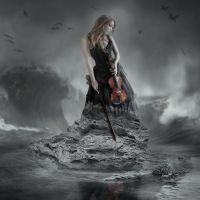 Lady With A Violin by TearsOfTheAmaranth