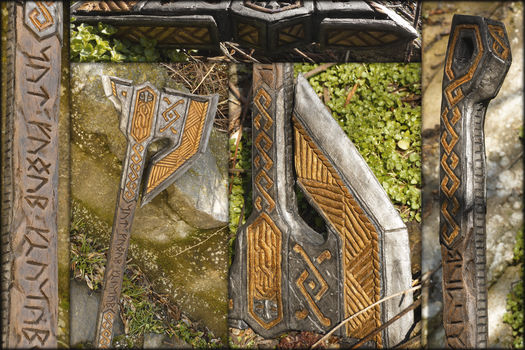 Dwarven Axe Details by Evelius