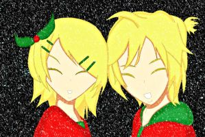 Contest Entry - Rin x Len at Christmas by PenguRin