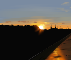 Sunset Study #3 by AgentKnopf