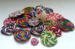 Swan with colorful spirals by ilinea