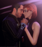 Jane and Kaidan by elyhumanoid