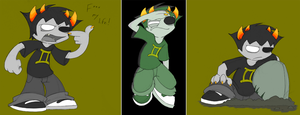 HS- Sollux Doodles by Yark-Wark