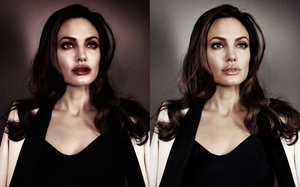 Angelina Jolie Vampire before after by Jeanne26