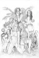 darkness pin up pencils by MMontiel