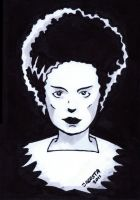 Bride of Frankenstein ACEO by JesseAcosta