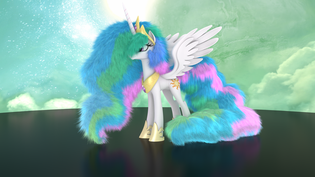 MLP Fluffy - Princess Celestia by VeryOldBrony