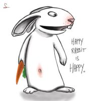 Happy rabbit by Glauqu3