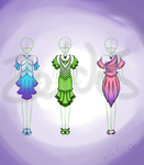 Dress Adoptables: Vibrant Line! (open) by Zelda5