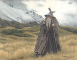 Gandalf in Hobbiton by PrincessTigerLili