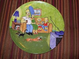 Simpson Family Couch Scene by Ironcladviking