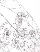 Spidey and Villians 06 by LucasAckerman