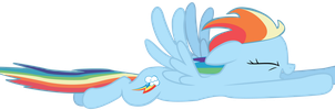 Rainbow Dash likes to fly by SlyFoxCl