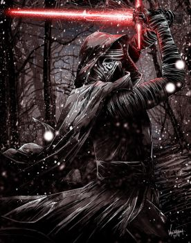 Kylo Ren by thefreshdoodle