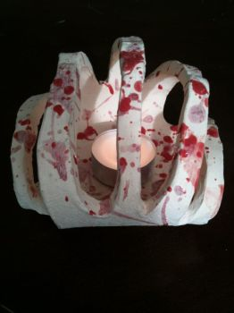 Ribcage Candle holder by Doomgirl666