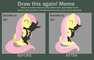 Cuddle-Changeling [Before And After] by Xyotic