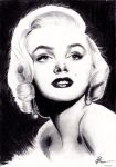 Marilyn Monroe by moonmistix