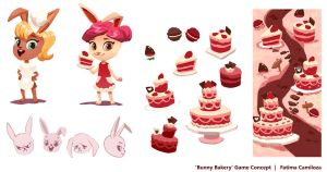 Bunny Bakery Game Concept by taho