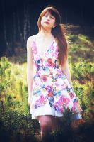 Flower dress by marcelia2a
